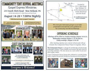 Gospel Express Tent Meetings - Bulletin